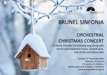Brunel Christmas concert flyer